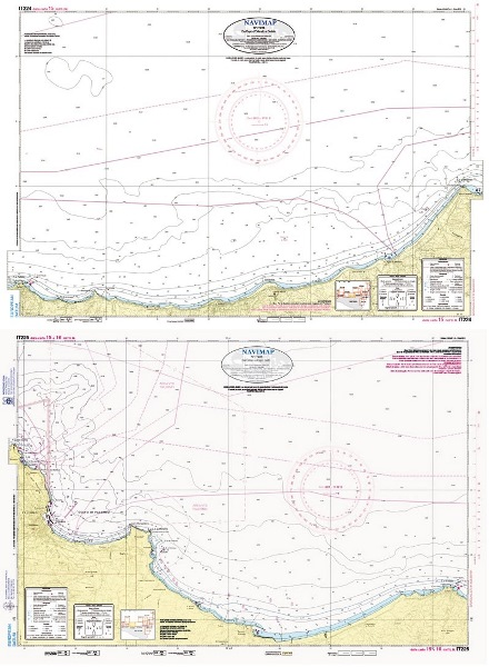 Cartina Sicilia Termini Imerese.Carta Nautica N It224 It225 Libreria Del Mare