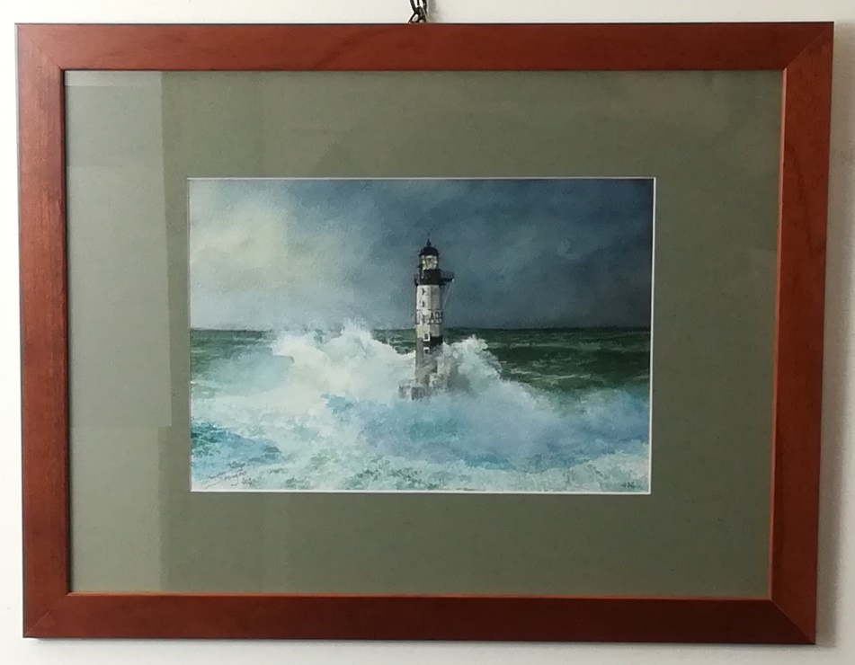 """watercolour """"lighthouse ar-men, the hell of hells"""""""