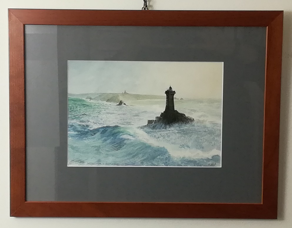 """watercolour """"lighthouse la vieille, point du raz"""""""